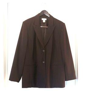 Ladies 18W Worthington Brown Suit-Jacket & Skirt